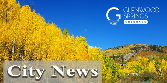 Glenwood Springs City News Banner - Trees with leaves changing at Sunlight Mountain