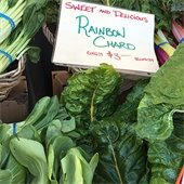 Farmers Market Chard and other vegetables