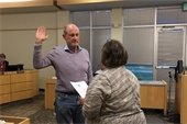 Swearing in of new Glenwood City Council member Rick Voorhees