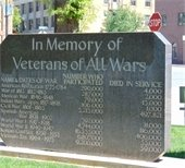 Veterans Memorial Statue outside Garfield County Courthouse