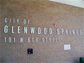 City of Glenwood Springs - lettering outside of City Hall