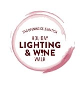 GAB Opening Celebration, Holiday Lighting and Wine Walk Logo