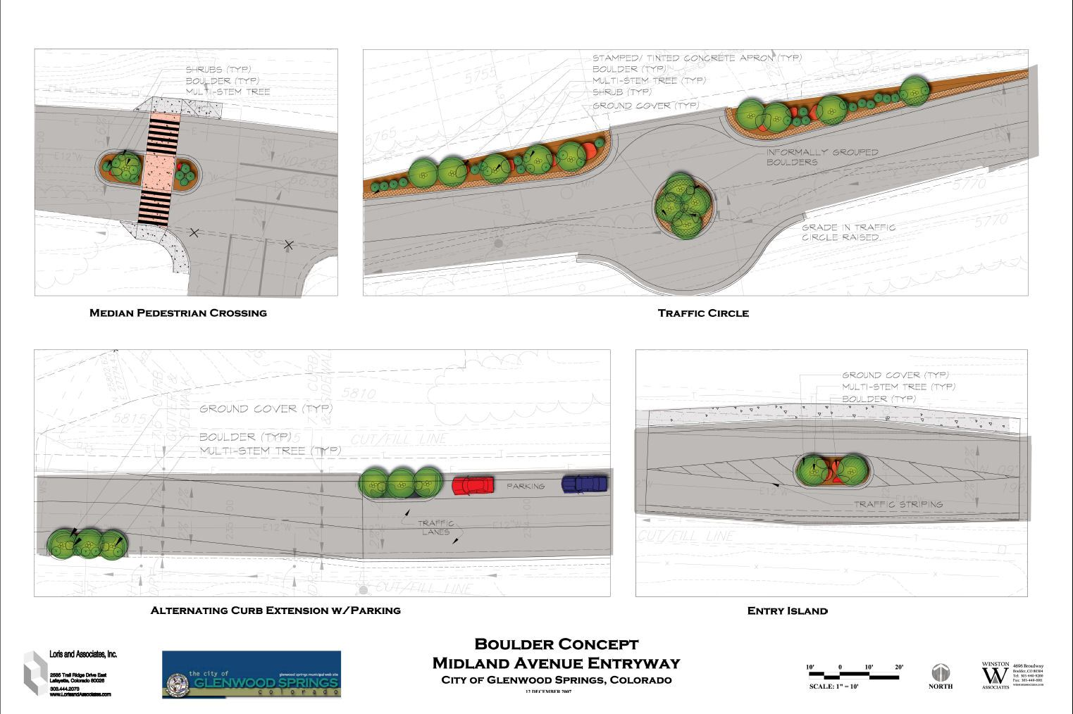 Detailed concept designs of the entryway boulder