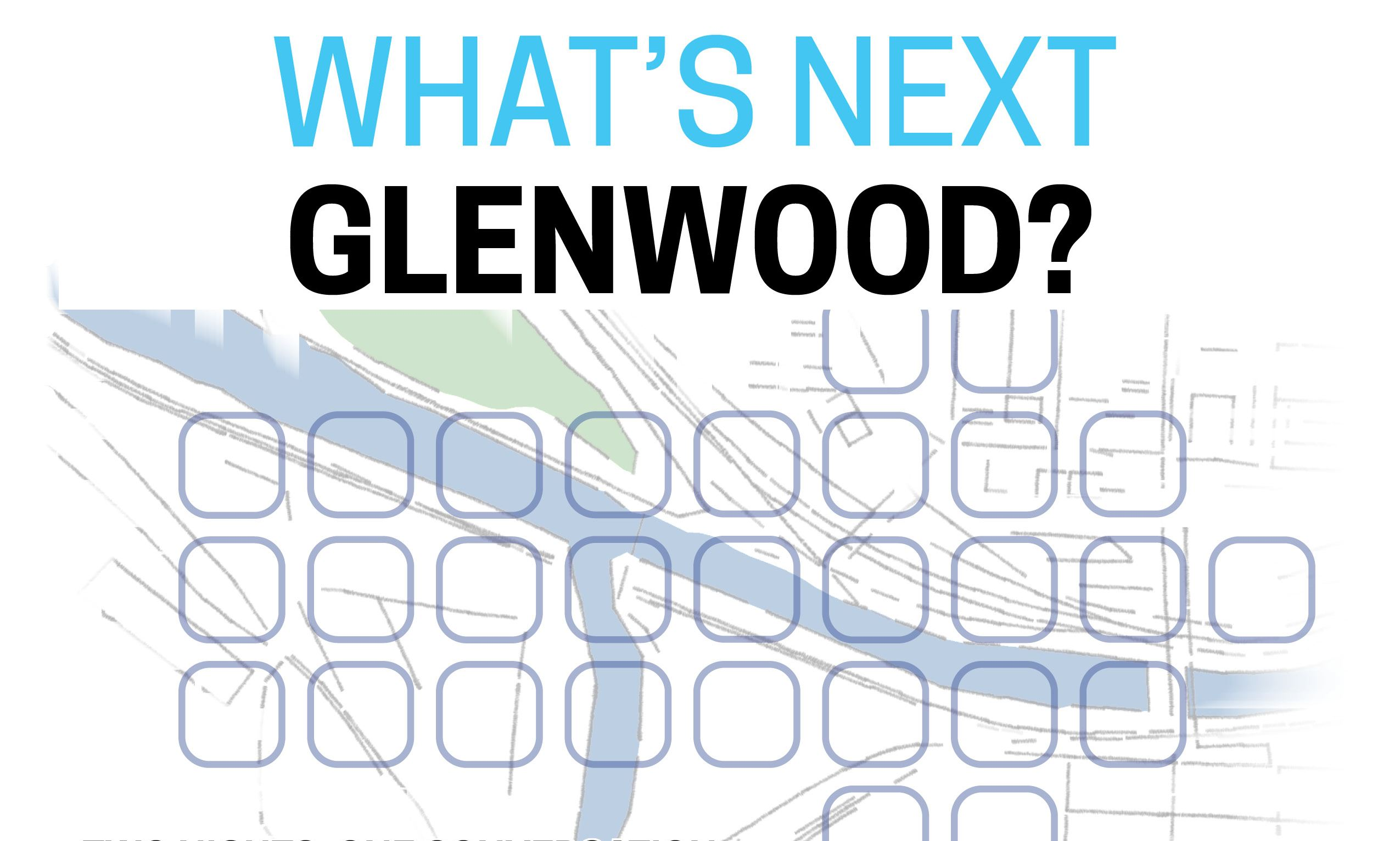 Glenwood: Moving Forward Together graphic featuring map of confluence area