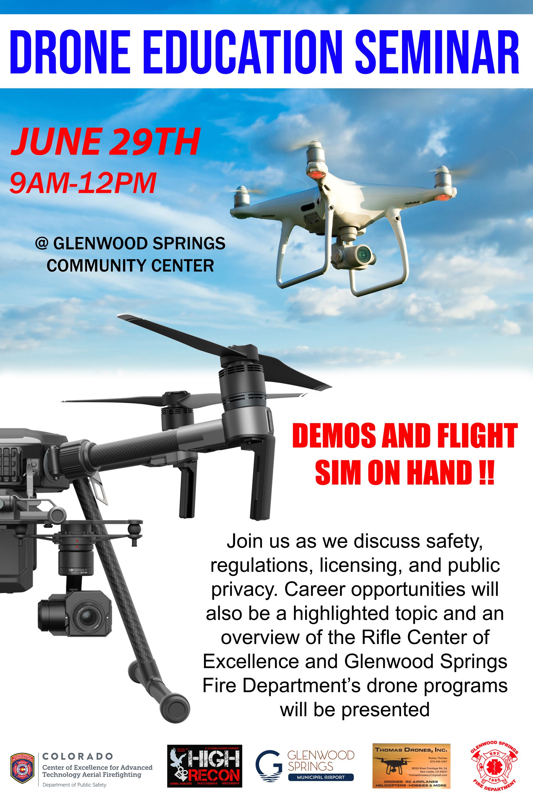 DRONE EDUCATION SEMINAR Poster