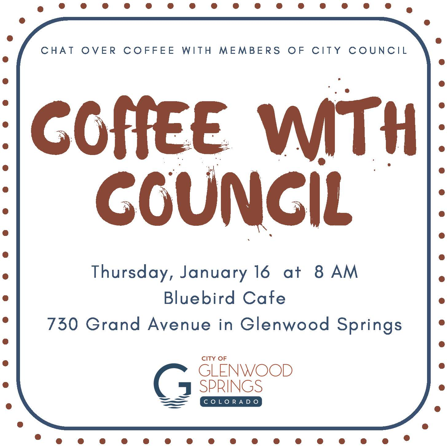 Coffee with Council January 16