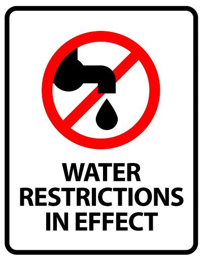 water restrictions in effect